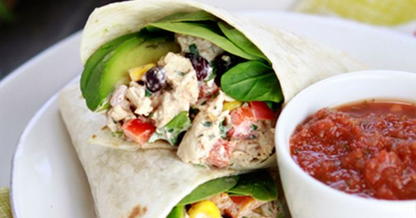 Chicken salad wraps, Salad wraps and Santa fe chicken on Pinterest