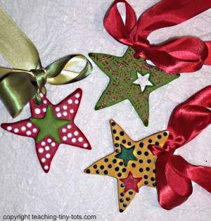 Toddler Activities Salt Dough Christmas Star Ornaments Christmas Ornaments Homemade How To Make Ornaments Diy Christmas Ornaments