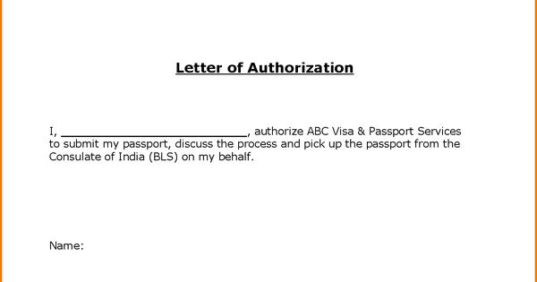 Authorization Letter For Passport Pickup Pdf Indian Visa India