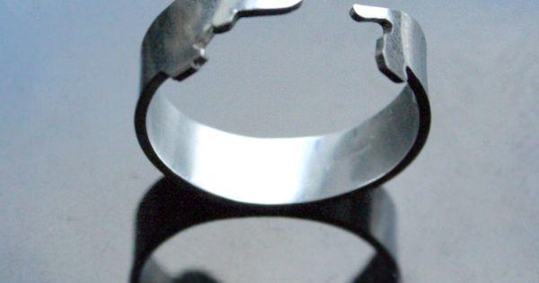 Argentium Silver Dachshund Dog Ring
