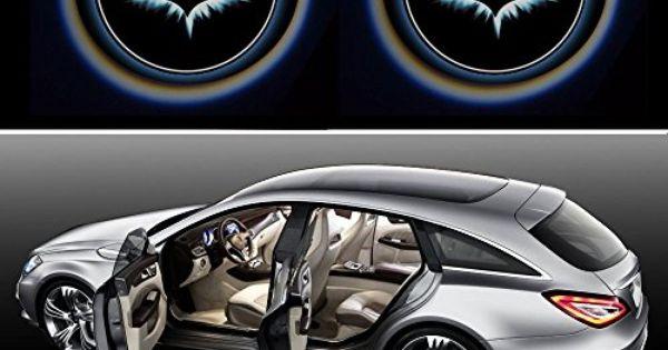 2x Night Cold Blue Bat Batman Black Wireless Car Door Led Projection Projector Light Courtesy