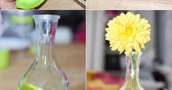 Des jolis vases aux couleurs de votre mariage Posté par Adeline /