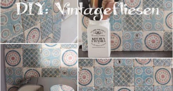 selbst gemacht by patricia morgenthaler diy vintage fliesen selber machen deko inspirationen. Black Bedroom Furniture Sets. Home Design Ideas