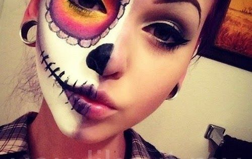 You Like It My...: Sugar Skull Makeup For Girls On Halloween Dead