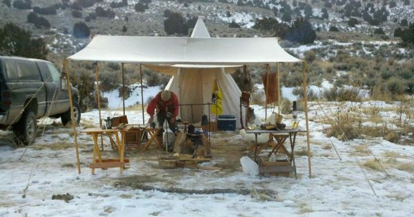 Winter Camp Mountain Man Pinterest Camping Rv And