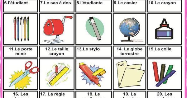 vocabulaire de la salle de classe cours de fran 231 ais le fran 231 ais et classe