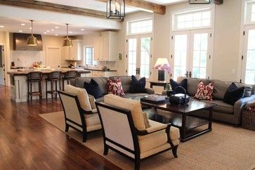 2 Couches In Open Floor Plan With Images Traditional Design