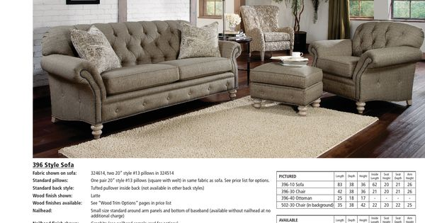 Smith Brothers Living Room Chesterfield Tufted Sofa 043372