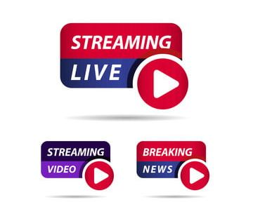 Live Streaming Breaking News Label Vector Template Design Illustration News Icons Live Icons Template Icons Png And Vector With Transparent Background For Fr Template Design Illustration Design Channel Logo