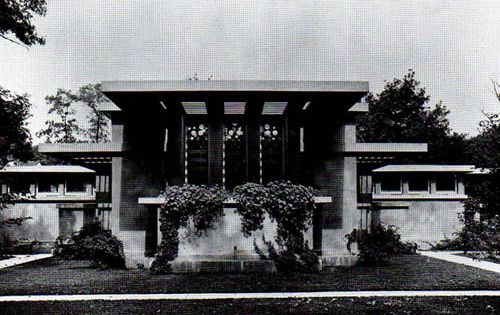 avery coonley house prairie style riverside illinois frank lloyd wright 1909 frank lloyd. Black Bedroom Furniture Sets. Home Design Ideas
