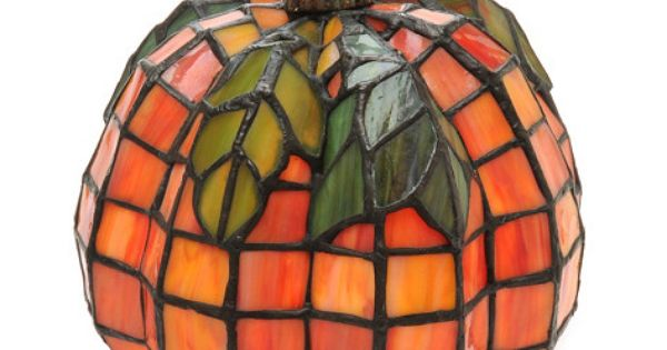 Tiffany Style 8 5 Quot Patch The Pumpkin Stained Glass Accent