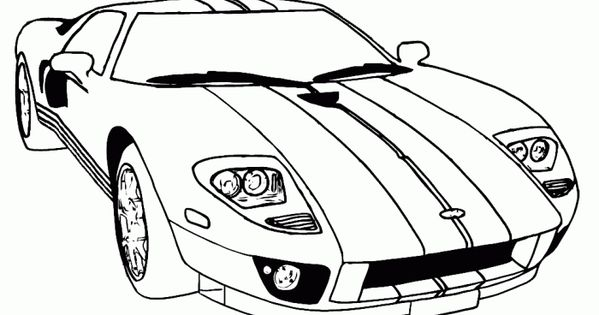 supercar ford gt coloring pages