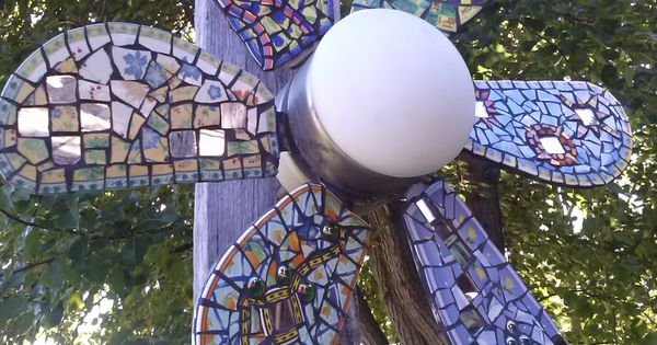 Ceiling Fan Garden Art Yard Art Pinterest Gardens
