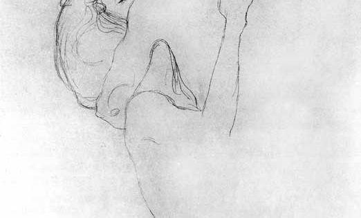 Gustav Klimt (Austrian, 1862-1918) Upper portion of two lovers  1908 Giclee