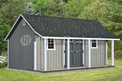 14 X 20 Cape Code Storage Shed With Porch Plans P81420 Free Material List 610708151753 Ebay Shed With Porch Building A Shed Porch Plans