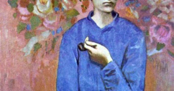 Picasso le gar on la pipe p riode bleue you 39 re as young as your faith pinterest faith - La chambre bleue picasso ...