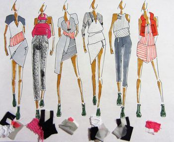 Collection Line Up How I Balance Elements In My Design Work In 2020 Fashion Inspiration Design Textile Pattern Design Fashion Illustration