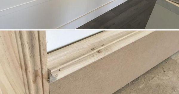 Diy Fussleisten Befreien Sie Sich Von Ihren Wimpy Baseboards Bonus Room Makeover Diyhome Diy Fussleisten Befreien In 2020 Fussleisten Sockelleisten Leisten