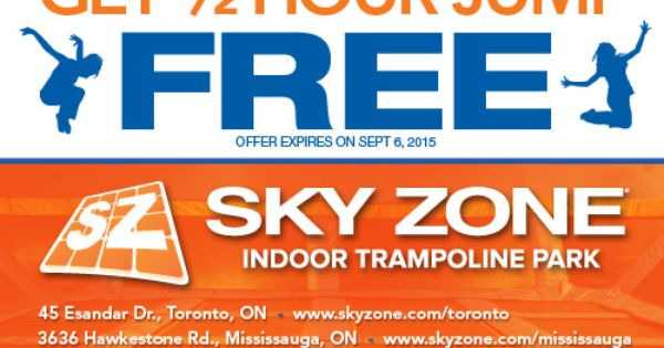 Sky zone discount coupons mn