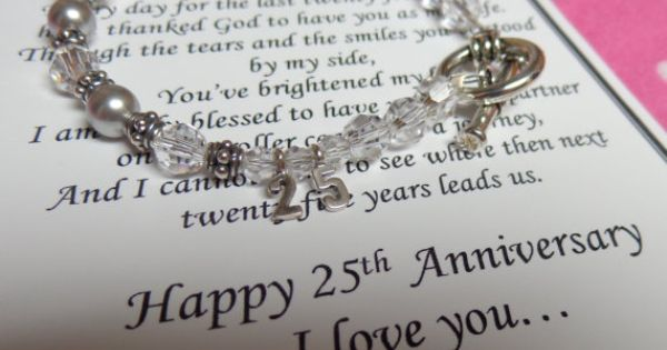 Good Gifts For 25th Wedding Anniversary: 25th Wedding Silver Anniversary Gift For Wife Sterling