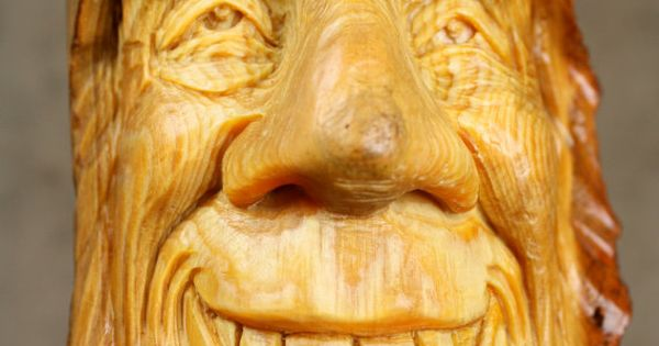 Wood carving spirit carved elf gift for dad by