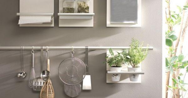 Support Pour Cuisine Pots Pices Ustensiles Plantes Aromatiques Bloc Note Deco