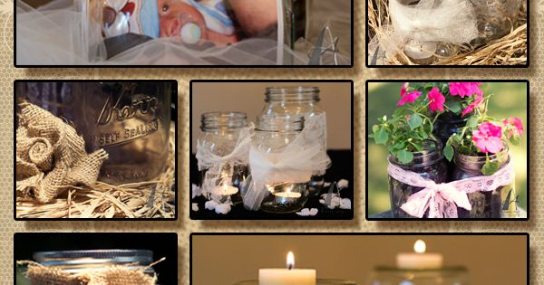 Easy DIY mason jar decorations. I love when brides ask if they