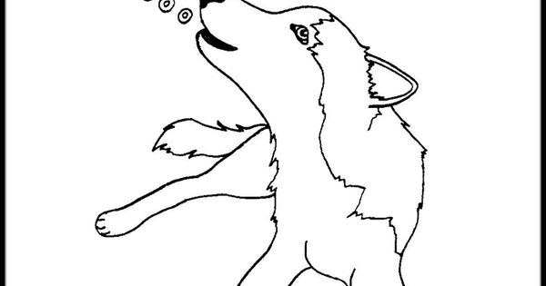 snow dog coloring pages - photo#37