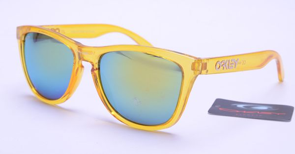 oakley frogskins sunglasses yellow frame colorful lens 0401 oakley sunglasses pinterest womens fashion all love and oakley sunglasses