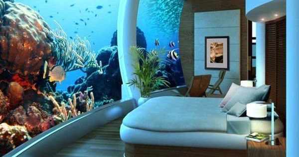 Underwater hotel in Dubai....my dream room!