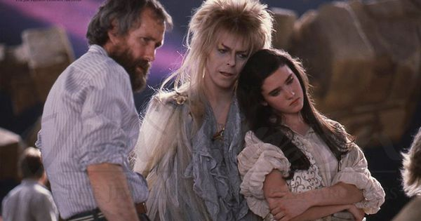 Jim, David Bowie, and Jennifer Connelly on the set of Labyrinth... ♥this