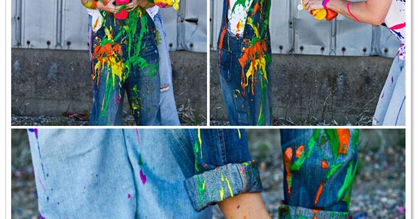 Paint war engagement photo session.