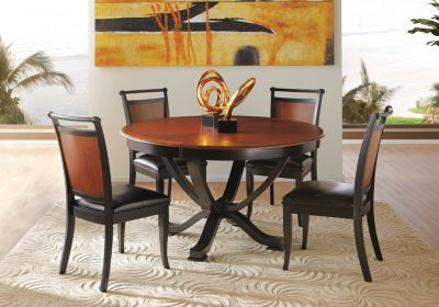 Orland Park Black 5pc Round Dining Room Dining Room Sets Round Dining Room Sets Round Dining Room