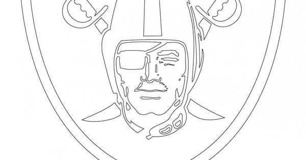 Oakland raiders coloring pages logo ~ oakland raiders logo | Oakland Raiders Logo Coloring Page ...