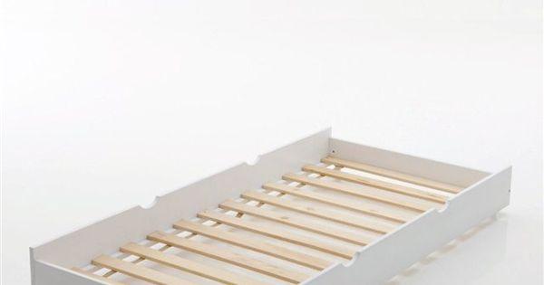 Tiroir lit en pin massif loan la redoute interieurs lit for Lit escamotable la redoute