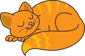 Free Cat Clip Art Image Clip Art Illustration Of An Orange Cat Curled Up Napping Cat Clipart Free Clip Art Clip Art