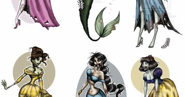 zombie disney princess tattoos!