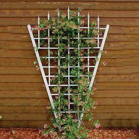 Dura Trel 58 In W X 94 In H White Garden Trellis 11157 Garden
