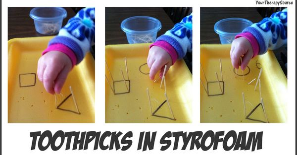 Your Therapy Source - www.YourTherapySource.com: Toothpick Pincer Grasp Activity