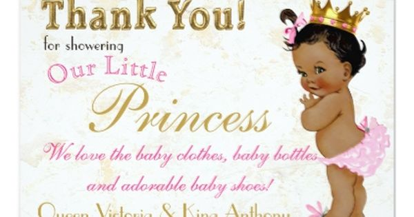 Gold Stripes Fairy Party Thank You Cards