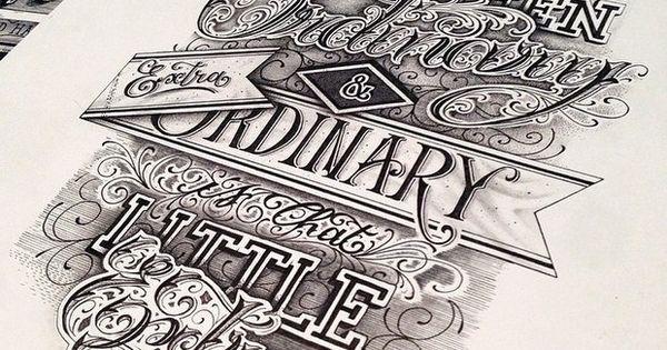word art, depth, font