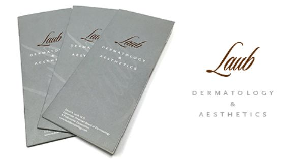 Laub Dermatology Logo And Brochure Design Designed By Mhd Group Mhdgroup Com Brochure Design Graphic Design Portfolio Design