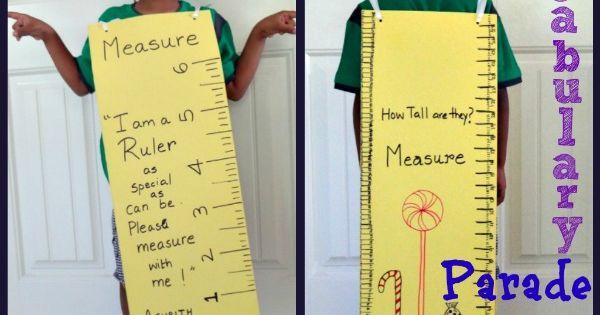 Measuring Ruler Costume for Vocabulary Parade : Handmade paper costume ...