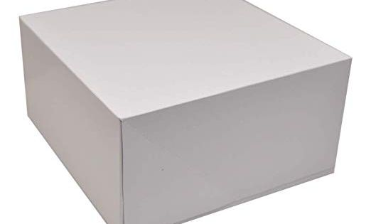 Deep Square Cardboard Box With Lid 10x10 Inch White Deep Gift Box 2 Packs Of 4 8 Total Cardboard Boxes With Lids Deep Square Box With Lid