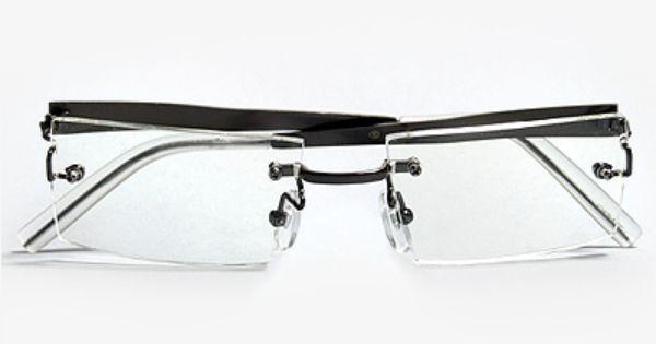 Sarah Palin Luxe Rimless Rectangular Clear Glasses ...