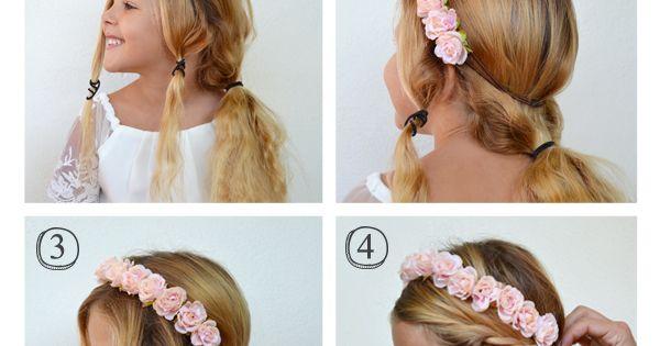 Tutoriel de coiffure pour enfants coiffure fleurie pour fille pour un mariage hair tutorial - Coiffure pour communion ...