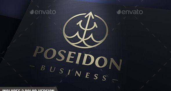 Poseidon Drop Logo – Company Logo Templates