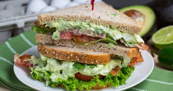 Creamy Avocado Egg Salad Sandwich