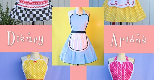retro disney princess aprons {SO Cute!!}
