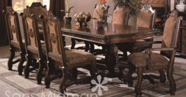 New furniture formal 9 piece renae dining room set table for 9 piece dining room set with leaf